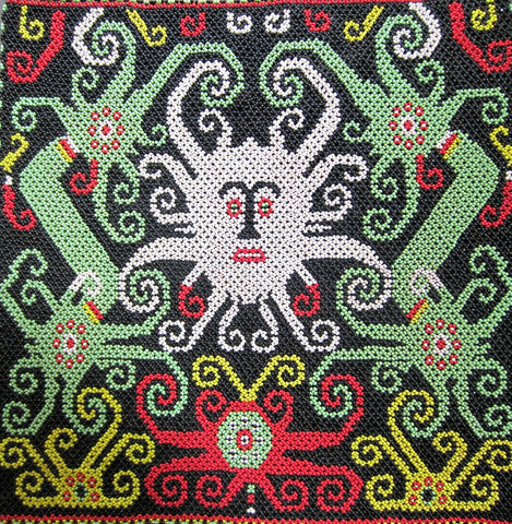 Dayak Beadwork Panel from Indonesia