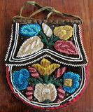 Old Iroquois Beaded Velvet Purse