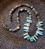 Earthy Brown Jasper, Turquoise and Amazonite Necklace