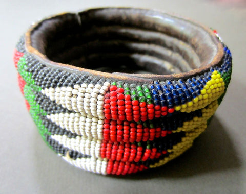 Beautiful Old Beaded Cuff from West Africa