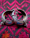 Handsome Silver Mongolian Hoops