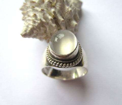 Large Luminous Moonstone Ring