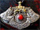 Antique Silver Embellished Tibetan Coin Purse