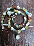 Beach Stone Treasure Necklace