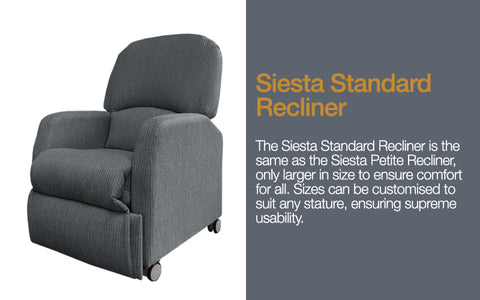 Siesta Standard Recliner for aged care