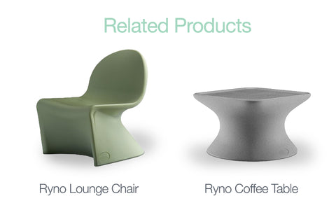Ryno furniture grey table and green lounge chair