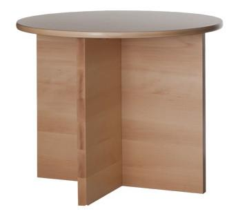 Light solid timber round Dining Table with pedestal base