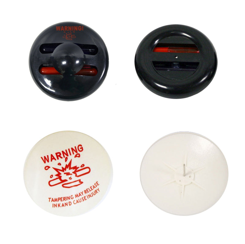 Dual-Color Large RF EAS Ink Tags (Black / White) - Includes 50mm large pin - Case of 500 Pcs. - Very Popular