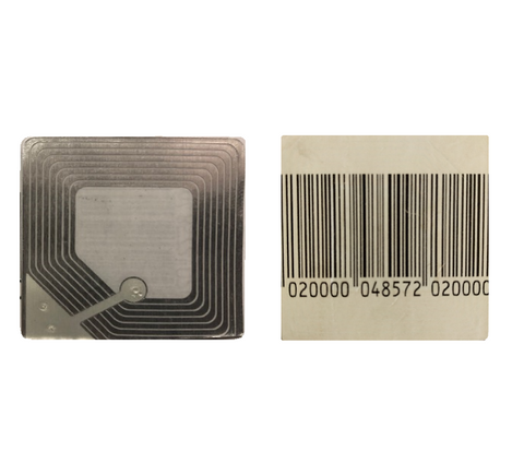 Security 40mm x 40mm Barcode Style Soft Labels RF 8.2 Mhz Frequency - 2,000 Labels / Order