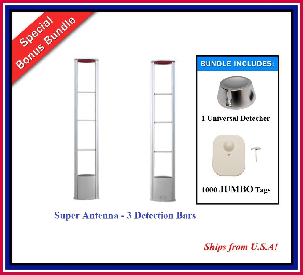 Double Door Package 9 - Super Antenna + 1000 JUMBO Tag + 1 Universal Detacher