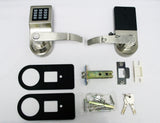 Office / Warehouse / Storage Room Keyless Smart Lock Set - Satin Nickel - LH/RH Switchable