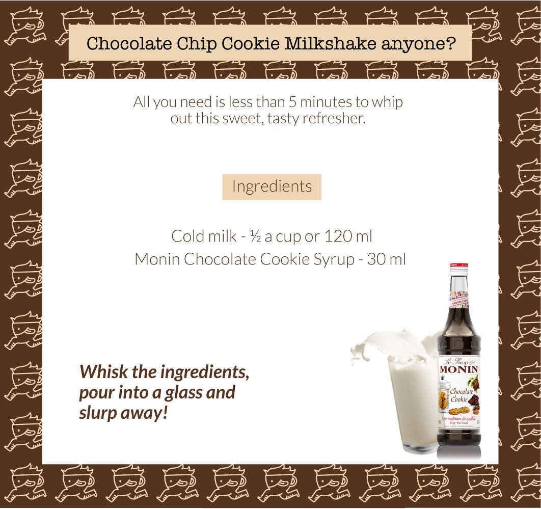 Chocolate Chip Cookie Milkshake anyone?