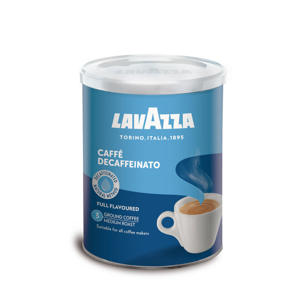 TIN CAFFE DECAF GROUND COFFEE 250G