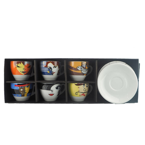 ESPRESSO FACE CUP SET 90ML (SET OF 6)