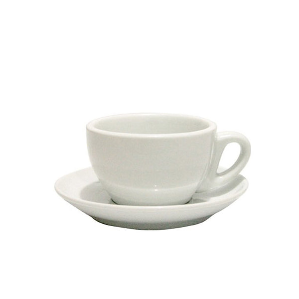 WHITE BOWL CAPPUCCINO CUP SET 210ML (SET OF 6)