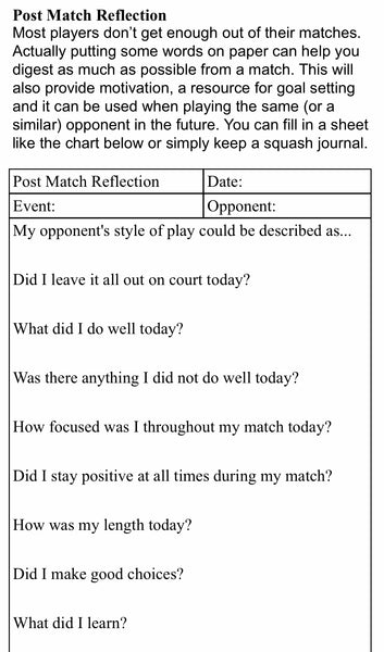 Serious Squash Workbook: A Guide To Winning Squash
