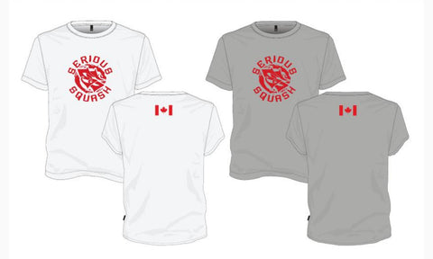 Serious Squash Canada Shirt - Grey