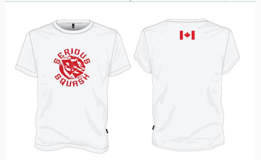 Serious Squash Canada Shirt - White