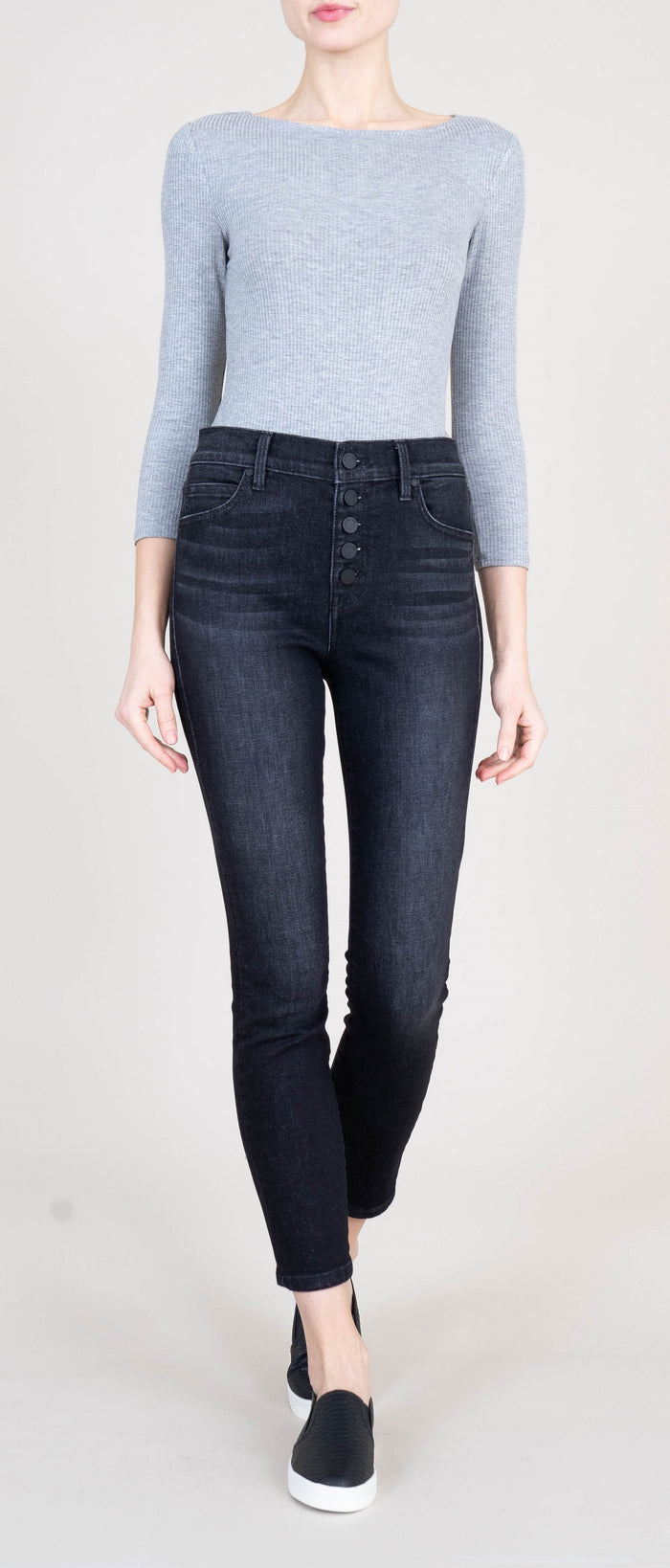Heidi Exposed Button Fly Jeans - Brevado