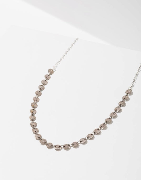 Silver Candra Necklace - Circles - Brevado