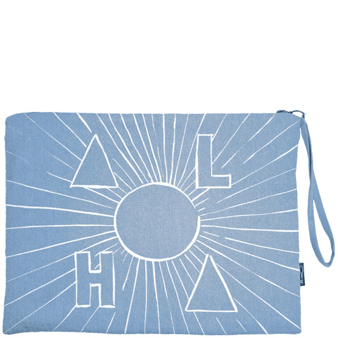 ALOHA SUN CLUTCH - DENIM
