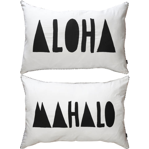 ALOHA MAHALO PILLOW SLIPS – SET OF TWO