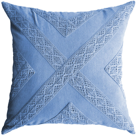 CROCHET CROSS – DENIM.