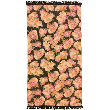 DESERT FLOWER - BLACK LARGE TOWEL