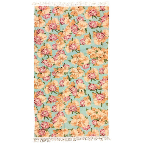 DESERT FLOWER - LARGE TURQUOISE TOWEL