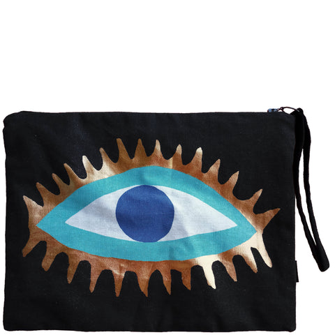 EVIL EYE CLUTCH - BLACK