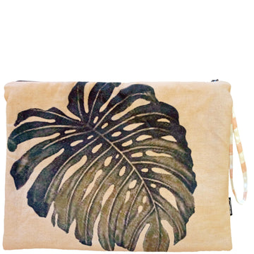 FROND OF YOU CLUTCH - PEACH