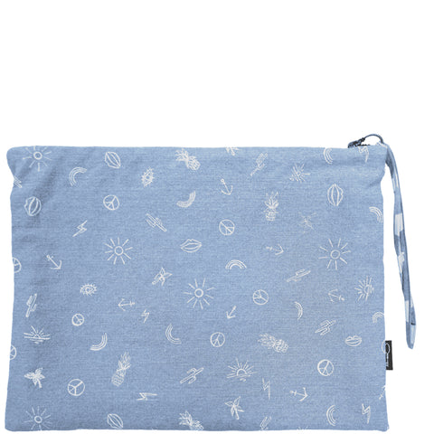 HAPPY DAYZ CLUTCH - DENIM