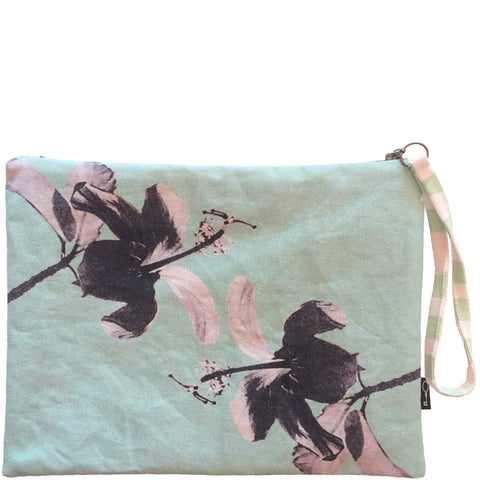 HIBISCUS CLUTCH - MINT