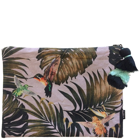 JUNGLE FLUTTER CLUTCH - LILAC