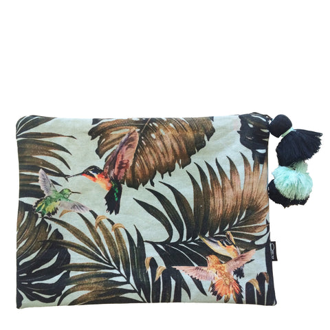 JUNGLE FLUTTER CLUTCH - BLUE
