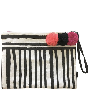 PAINTED STRIPE CLUTCH