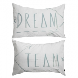 DREAM TEAM PILLOW SLIPS / SET OF TWO - CHALK