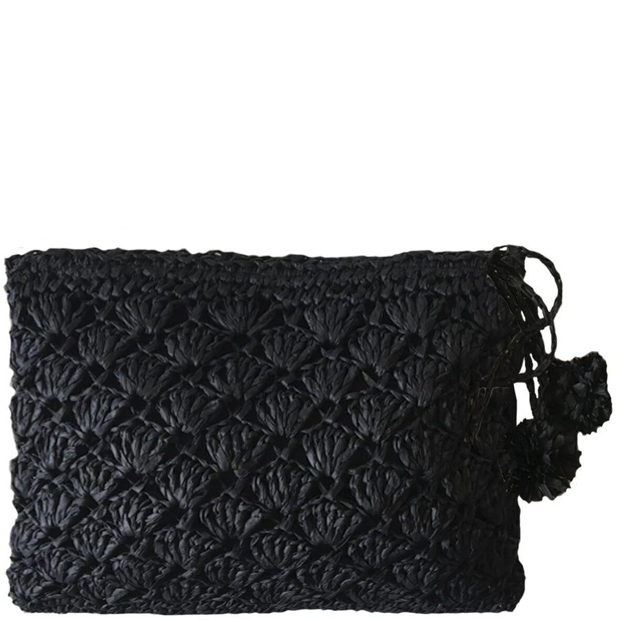 SEA WEAVE - BLACK CLUTCH