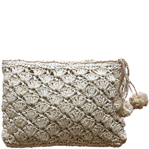 SEA WEAVE - NATURAL CLUTCH