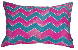 WAVER PILLOW SLIP / SET OF TWO - MAGENTA