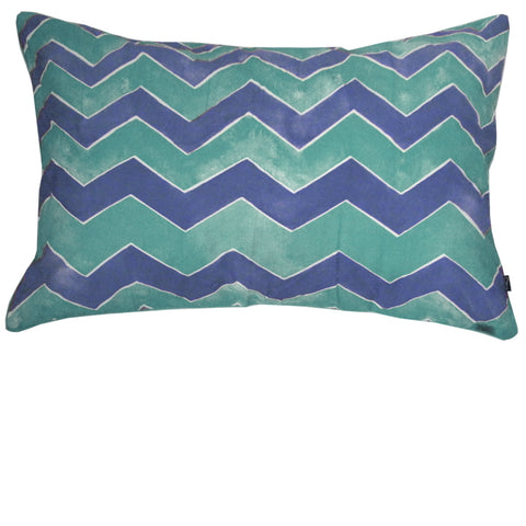 WAVER PILLOW SLIP / SET OF TWO - TEAL
