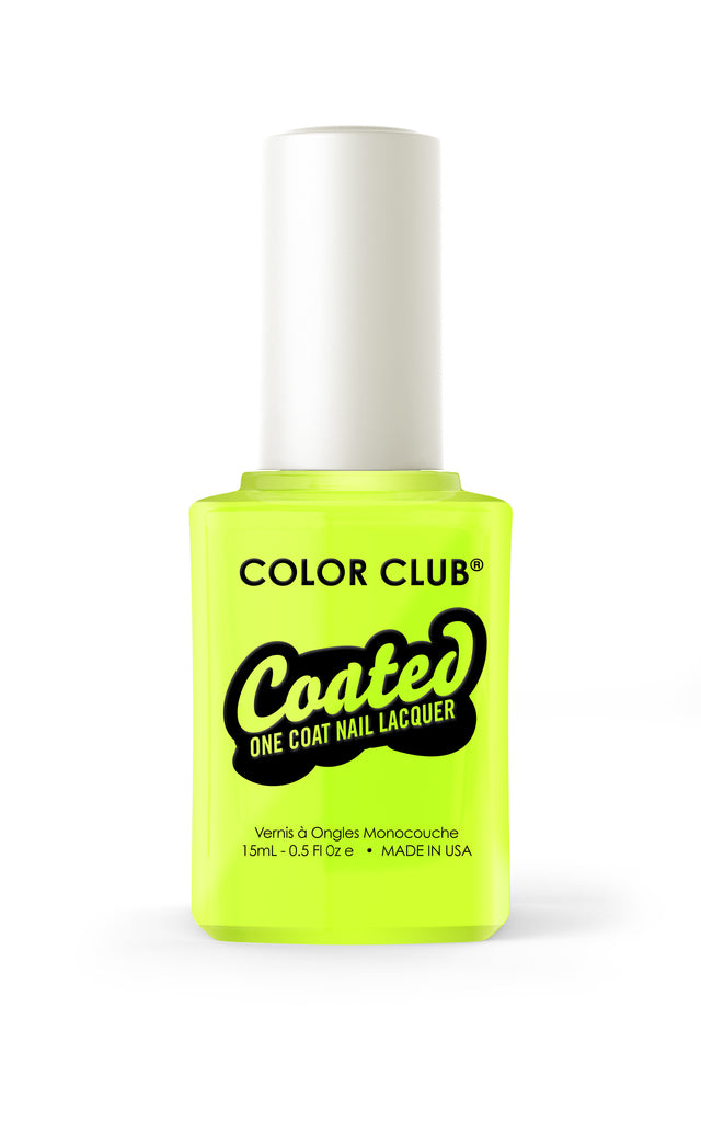Color Club™ Coated Yellin Yellow One Coat Nail Lacquer - Gina Beauté