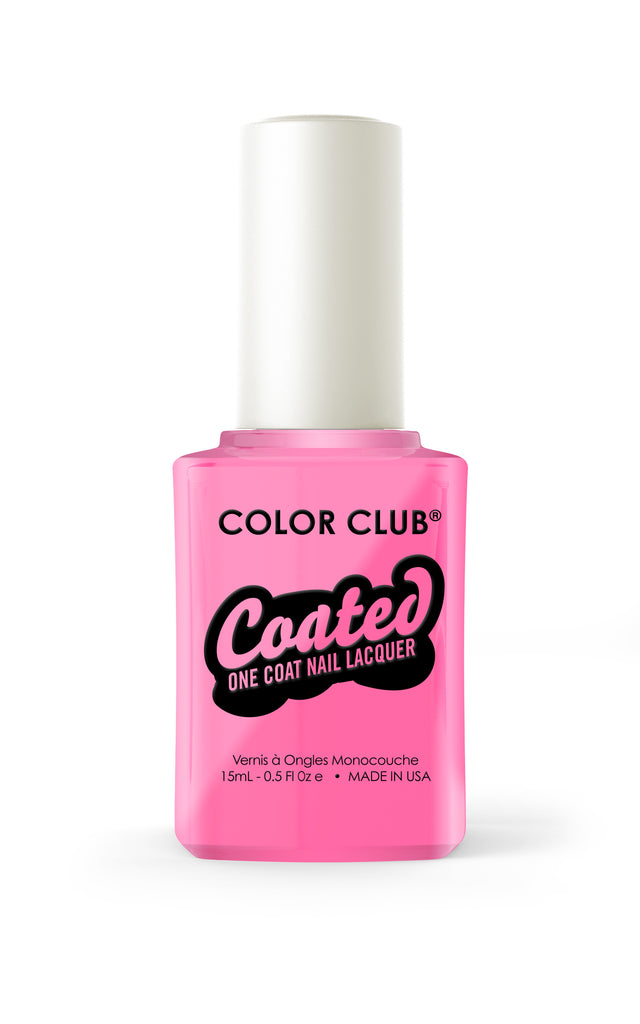 Color Club™ Coated Modern Pink One Coat Nail Lacquer - Gina Beauté