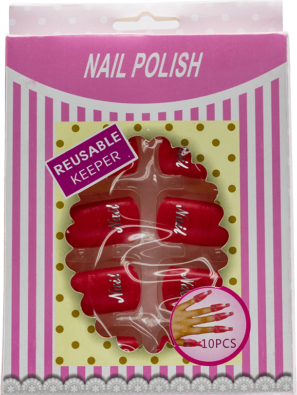 Nail Polish Reusable Keeper (red) 10pcs