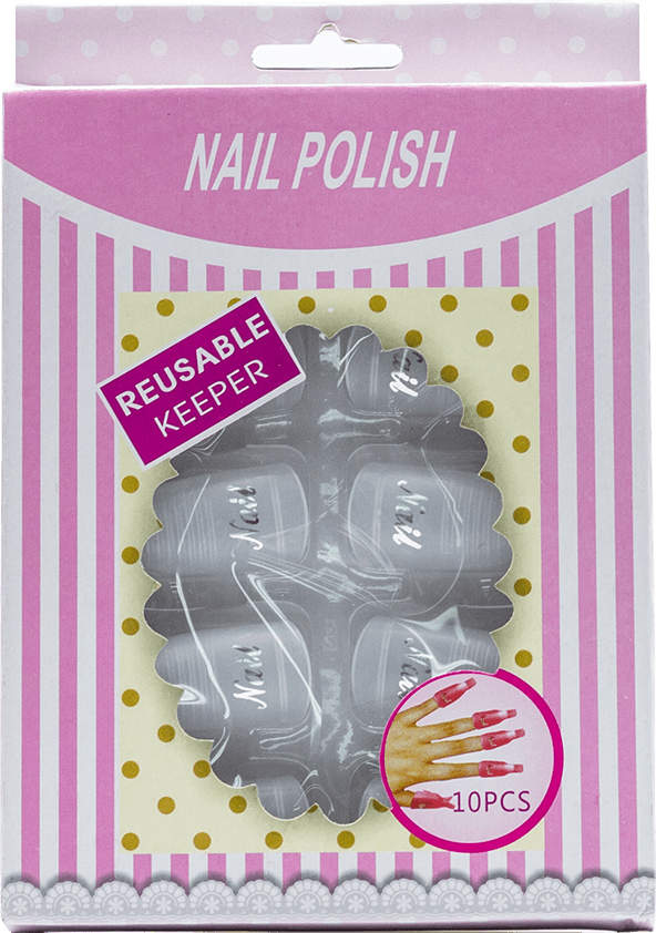 Nail Polish Reusable Keeper (Clear) 10pcs