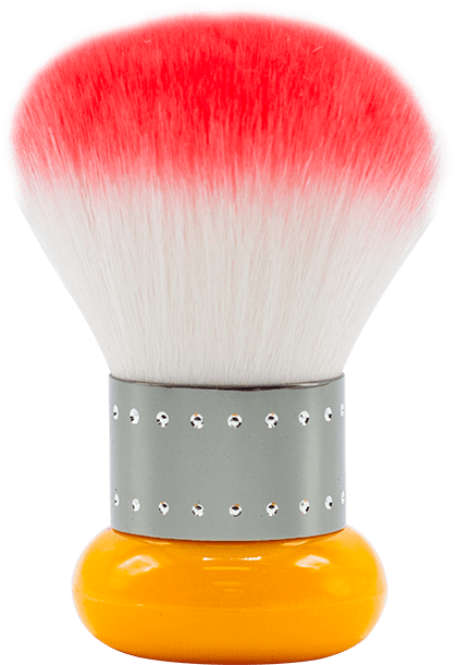 Mini Brush (Orange/Grey)