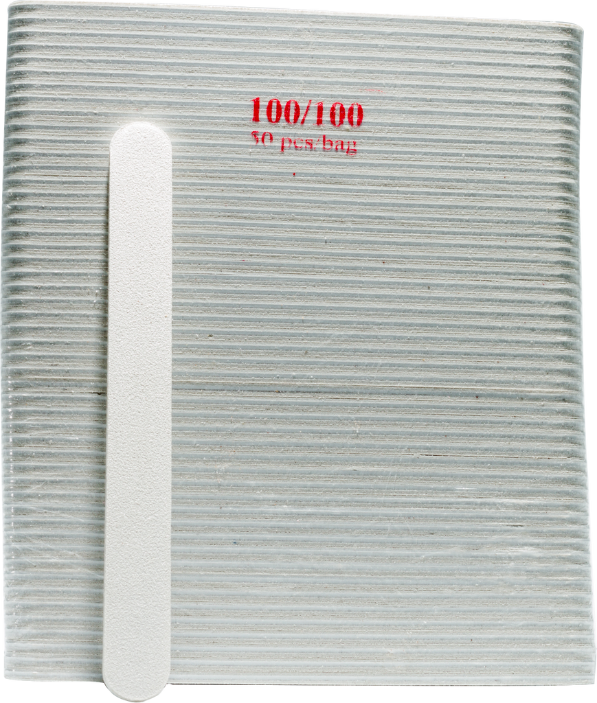 Regular White Nail Files (100/100) 50pcs - Gina Beauté