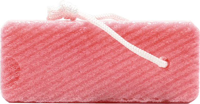 Pedicure Pumice Sponge (Red) - Gina Beauté