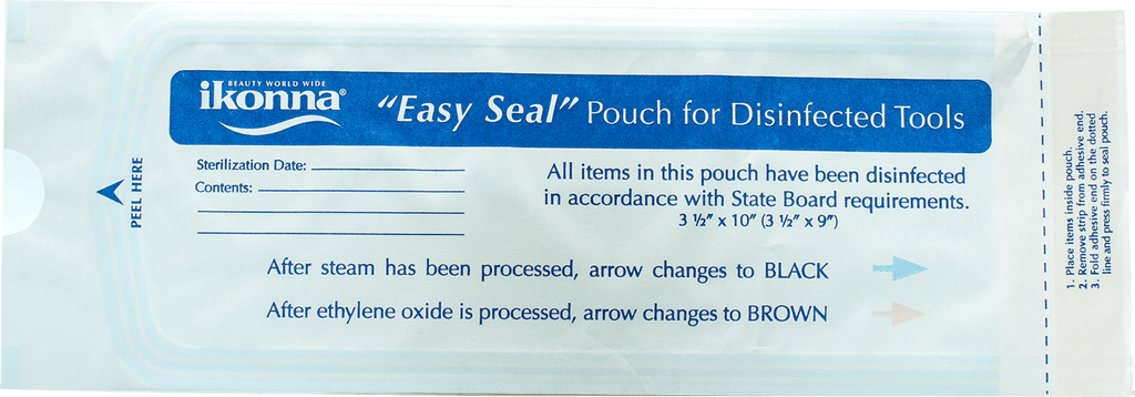 "Ikonna ""Easy Seal"" Pouch for disinfected tools 200pcs - Gina Beauté"