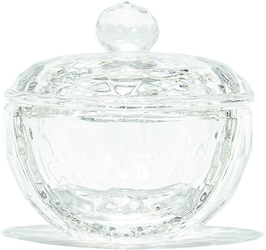 Round Shaped Glass Jar - Gina Beauté